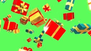 getlinkyoutube.com-Green Screen Waterfall Christmas Gift Boxes - Footage PixelBoom