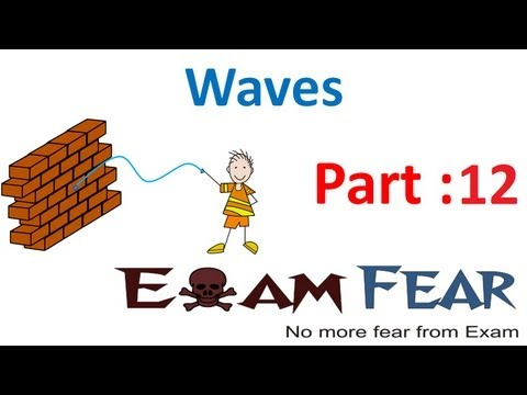 Physics Waves part 12 (Speed of Travelling waves) CBSE class 11