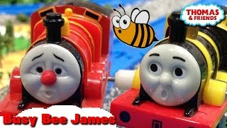 """Thomas and friends """"Busy Bee Accident"""" トーマス プラレール ガチャガチャ はたらきバチジェームス"""