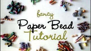getlinkyoutube.com-{MASSIVE} Fancy Paper Beads Tutorial