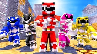 POWER RANGERS IN MINECRAFT! (Minecraft Bed Wars Trolling)