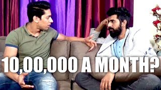 Rohit Khatri tells Mensutra his Real Monthly Earnings from Youtube! 1 Crore a year?