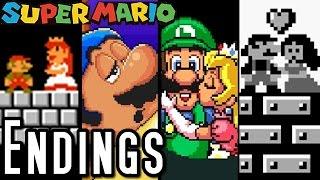 getlinkyoutube.com-Super Mario ALL ENDINGS 1985-1995 (SNES, NES)