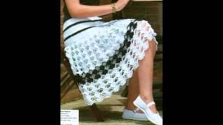 getlinkyoutube.com-Falda mujer tejida en crochet ganchillo Diseños