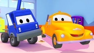 Tom the Tow Truck and the Cherry Pick-up Truck 🚚 Cars 🚗 and Trucks Cartoons for Kids !