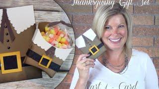getlinkyoutube.com-Part 1: How to make a Thanksgiving Pilgrim Gift Set Part 1 - Stampin Up Card