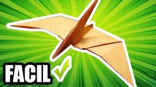 getlinkyoutube.com-Como hacer figuras de papel PTERANODON Estilo JURASSIC PARK | Origamis de papel (Muy fácil)