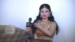 Mouni Roy Hot Look During Diwali Shoot - Hum Hai Na - Sony TV