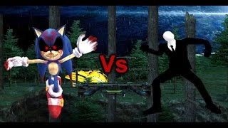 getlinkyoutube.com-SSBB Wii U Modded Battles: SlenderMan Vs Sonic.EXE ( Round 2!)