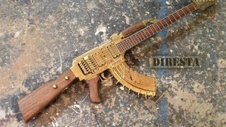getlinkyoutube.com-✔ DiResta AK47 Guitar (AKA the GATTAR)