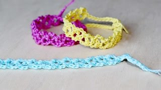 getlinkyoutube.com-Braccialetti colorati all'uncinetto - Tutorial