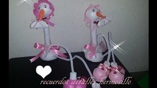 getlinkyoutube.com-DIY Como Hacer fofucha  Cigueña piernas largas baby shower