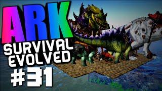 """getlinkyoutube.com-Ark Survival Evolved #31 """"Base Destruction, New Swamp Base, Dino Barge"""""""