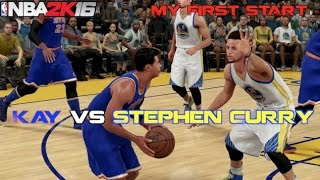 getlinkyoutube.com-Kay vs Stephen Curry & MY FIRST START! NBA 2K16 MyCareer