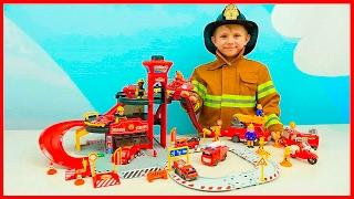 getlinkyoutube.com-Пожарные Машинки и Пожарная станция для детей | Видео про Машинки и мальчика Пожарного Даника