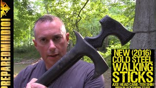 getlinkyoutube.com-New Cold Steel Walking Sticks: Axe Head Cane, Ten Shin, And More - Preparedmind101