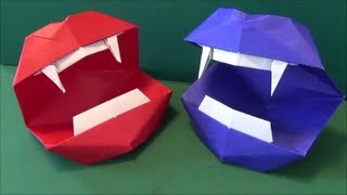 "getlinkyoutube.com-動く「リアルな口」折り紙""vampire mouth""origami"