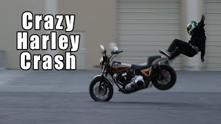 Crazy Harley Crash With Epic Save // Lands On Feet Like A Ninja