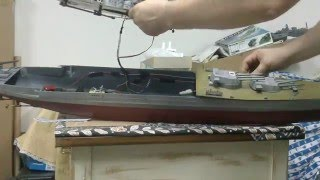getlinkyoutube.com-YAMATO: Interior with moving turrets of a 1/200 scale model