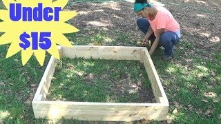 getlinkyoutube.com-How to Build a Raised Garden Bed for Under $15!