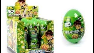 getlinkyoutube.com-10 Surprise Eggs Ben 10 Surprise Eggs Unboxing and Amazing Toys!