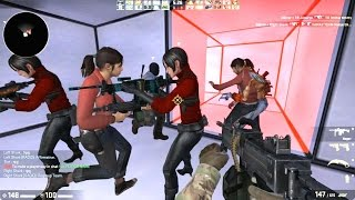 getlinkyoutube.com-Counter Strike Global Offensive Zombie Escape mod online gameplay on Timesplitters map