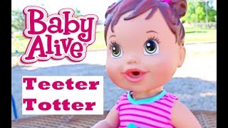 getlinkyoutube.com-Baby Alive BABY ATTACK 2 Worlds Biggest CRAZY Baby at the Park with Baby Alive Boo Boo Doll