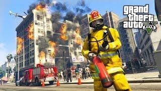 getlinkyoutube.com-GTA 5 Mods - PLAY AS A FIREFIGHTER MOD!! GTA 5 Firefighter Mod! (GTA 5 Mods Gameplay)