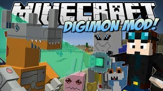 getlinkyoutube.com-Minecraft | DIGIMON MOD! (Digivolve, Collect & Battle!) | Mod Showcase