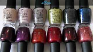 getlinkyoutube.com-OPI Germany Collection: Live Swatches & Review