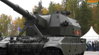 2S35 Koalitsiya-SV 152mm tracked self propelled howitzer Russian army RAE 2015 Russia Arms Expo