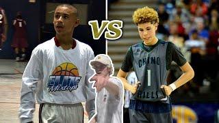 getlinkyoutube.com-14 YEAR OLDS DOMINATING HIGHSCHOOL BASKETBALL LEAGUE!! JULIAN NEWMAN VS LAMELO BALL