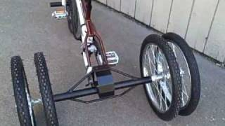 Bicycle With Dual Tandem Rear Wheels