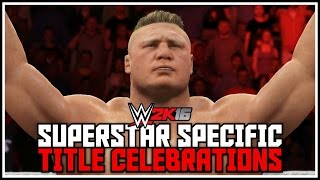 getlinkyoutube.com-WWE 2K16 - Awesome Superstar Specific Title Winning Celebrations! (New & Old)