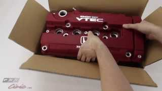 getlinkyoutube.com-JDM Civic Type R Red Valve Cover (B Series) Unboxing Review