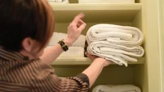 Towel Storage Hack! | Interior Design | Spring Cleaning Ideas