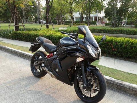 Big Bike คาวาซากิ นินจา650 รถสวย สีดำ ฟังเสียงเครื่องยนต์จริงๆ