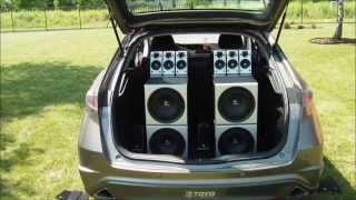4x Logitech z-2300 Honda Civic Bass Demo