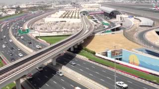 getlinkyoutube.com-Dubai airport, metro and road view