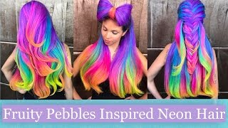 getlinkyoutube.com-Fruity Pebbles-Inspired Neon Hair