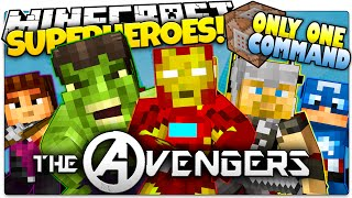 getlinkyoutube.com-Minecraft | THE AVENGERS IN ONLY ONE COMMAND BLOCK! | How To Be A Superhero! (One Command Creation)