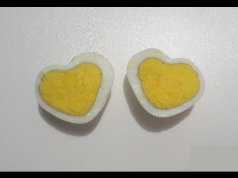 كيف تجعل البيضه المسلوقه بشكل قلب  ?!