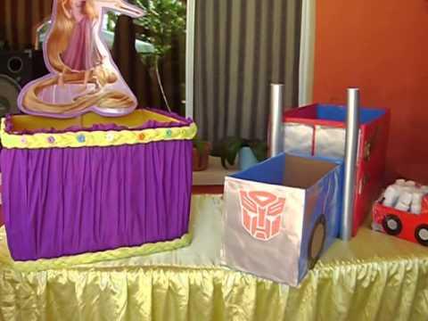 Globo_Fiesta ''Una fiesta sin decoración es una simple fiesta'' _ Rapunzel y Transformers