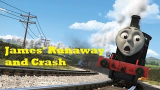 getlinkyoutube.com-Thomas and Friends: The Adventure Begins - James' Runaway and Crash