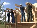 Konstrukcja i sposób wznoszenia domu drewnianego, 2-4
