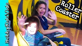 AdventureDome Roller Coaster Family Fun! Circus Circus Vegas Vacation Vlog HobbyKidsVids
