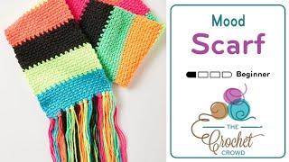 How to Crochet A Scarf: Moss Stitch Scarf