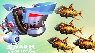 getlinkyoutube.com-Hungry Shark Evolution: Robo Shark Vs Baby Lava Shark - Gem Spending