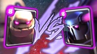 getlinkyoutube.com-Clash Royale - PEKKA vs. GOLEM MAX ELIXIR BATTLE!!