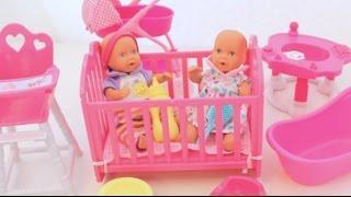 getlinkyoutube.com-لعبة الطفل البيبي و السرير أثاث البيت غرفة نوم وطعام وحمام وغرفة اللعب  العاب بنات و أولاد